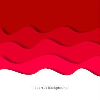 Papercut astratto sfondo rosso