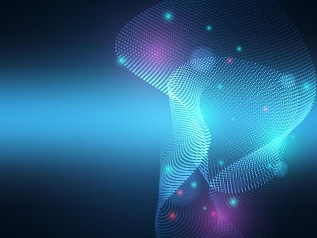 Illustrazione astratta del fondo di tecnologia di illuminazione delle particelle