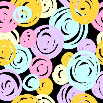 Modello senza cuciture colorato pastello astratto. campione di vernice moderna per biglietti d'auguri, inviti per feste per bambini, carta da parati, carta da regalo per le vacanze, poster per la vendita di negozi, stampa di borse, t-shirt, pubblicità per laboratori.