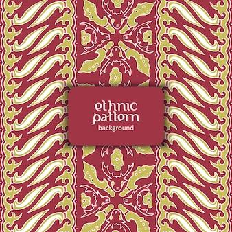 Motivo astratto motivo batik con rosso e giallo