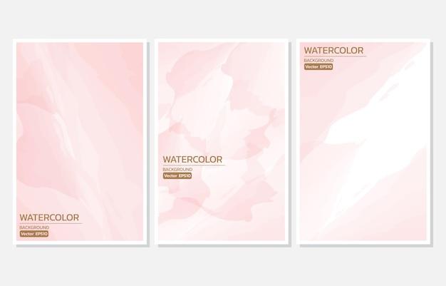 Astratto sfondo acquerello rosa pesca