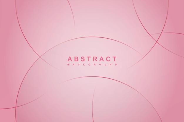 Fondo rosa astratto con le linee del cerchio.