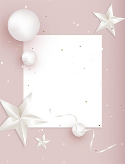Modello rosa astratto con elementi di decorazione