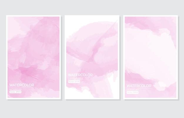 Astratto sfondo acquerello rosa