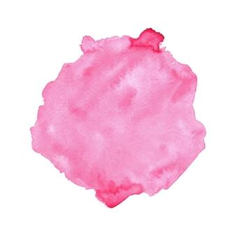 Acquerello rosa astratto su fondo bianco.