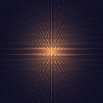 Fondo futuristico dello spazio astratto della maglia poligonale