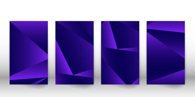 Modello poligonale astratto. design della copertina scura con forme geometriche. modello di copertina del poligono. illustrazione vettoriale. Vettore Premium