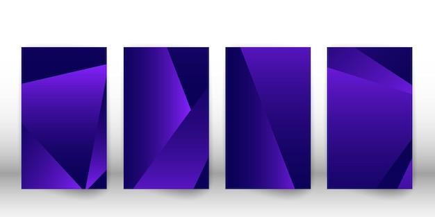 Modello poligonale astratto. design della copertina scura con forme geometriche. modello di copertina del poligono. illustrazione vettoriale.