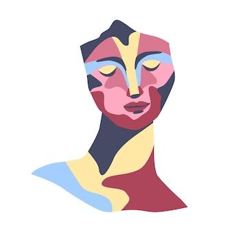 Ritratto astratto di scultura arte moderna