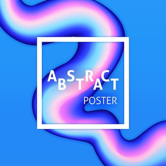Poster astratto liquido liquido. illustrazione vettoriale di sfondo creativo colorato.