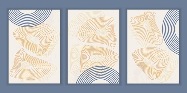 Poster astratto con forme e linee geometriche