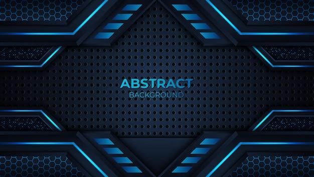 Sfondo geometrico blu premium astratto