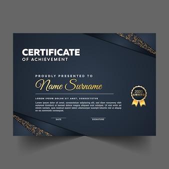 Certificato di conseguimento premio astratto