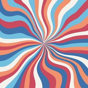 Fondo groovy psichedelico astratto. illustrazione vettoriale.