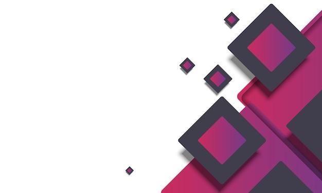 Rettangolo arrotondato sfumato astratto viola e nero. progetta per il tuo sito web.