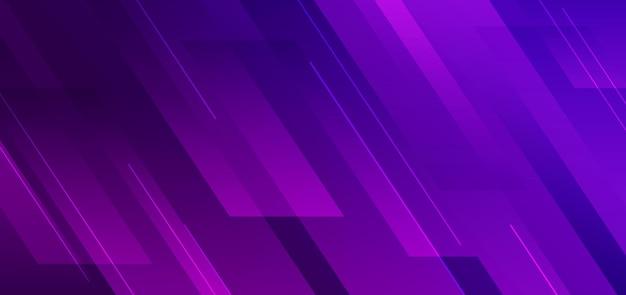 Geometrica diagonale di colore sfumato viola astratto con sfondo moderno di linea.