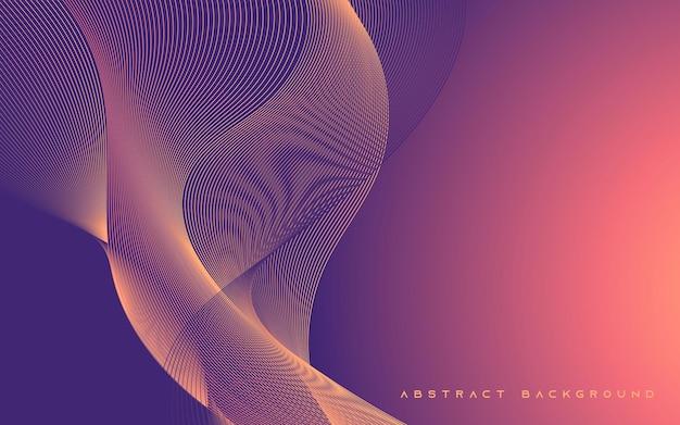 Sfondo astratto linea ondulata sfumatura viola