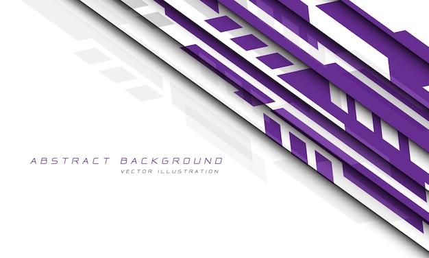 Cyber futuristico geometrico grigio porpora astratto su tecnologia moderna di progettazione bianca.