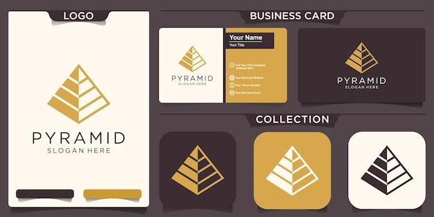 Modello di logo astratto piramide. simbolo di affari di progresso