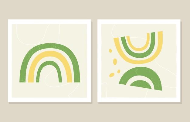 Arte della parete avocado arcobaleno astratto