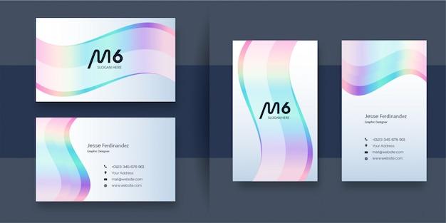 Modello di biglietto da visita professionale di colore astratto dell'arcobaleno