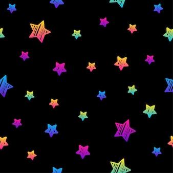 Modello senza cuciture arcobaleno astratto. sfondo moderno campione per biglietto d'auguri, invito a una festa per bambini, carta da parati, carta da regalo per le vacanze, poster di vendita del negozio, stampa di borse, t-shirt, pubblicità di officina