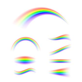 Arcobaleno astratto impostato in diverse forme