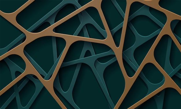 Decorazione papercut realistica astratta strutturata