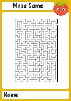 Labirinto rettangolare astratto.