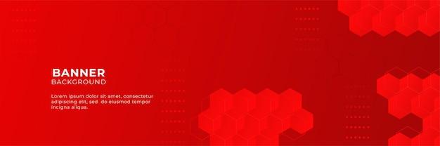 Sfondo astratto banner rosso con strato di sovrapposizione 3d e forme geometriche