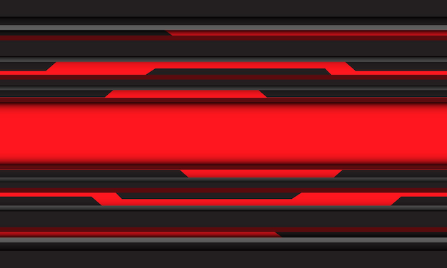 Abstract rosso nero grigio cyber linea tecnologia geometrica design moderno sfondo futuristico
