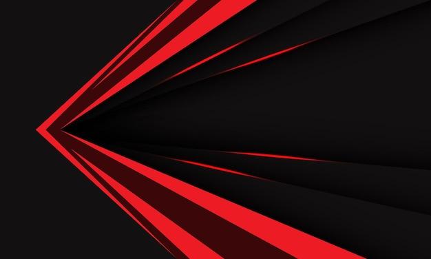 Abstract rosso nero metallico freccia velocità direzione tecnologia geometrica sfondo futuristico vector