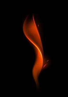 Fiamma rossa astratta del fuoco su cenni storici