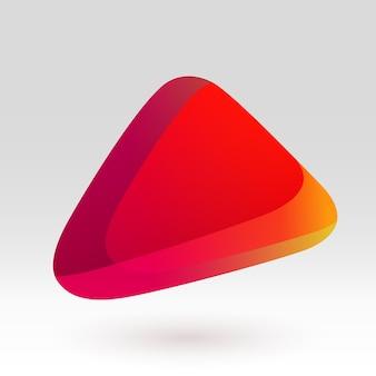 Illustrazione variopinta di vettore dell'icona geometrica astratta di gradiente rosso