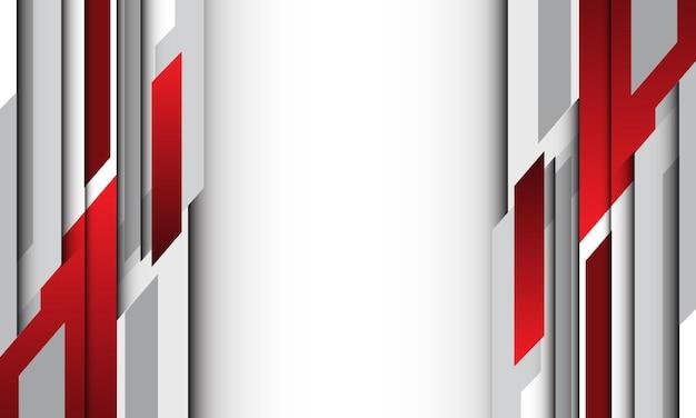 Fondo futuristico moderno di progettazione geometrica grigia rossa astratta dello spazio vuoto.