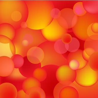 Bolle rosse ed arancio astratte, fondo dei tondi, struttura