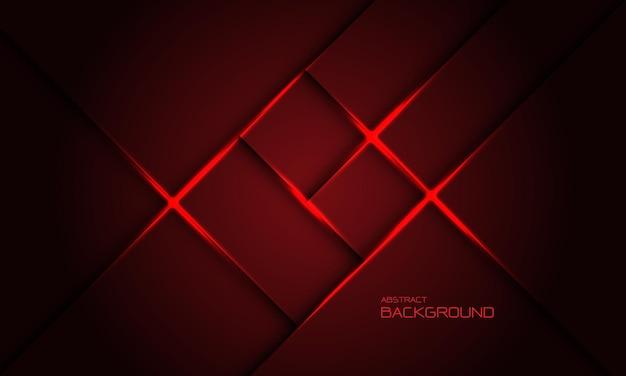 Fondo futuristico di tecnologia creativa di progettazione trasversale della luce dell'ombra del quadrato rosso astratto vettore
