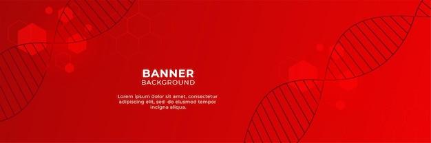 Fondo rosso astratto dell'insegna di tecnologia con lo strato di sovrapposizione 3d e le forme geometriche di esagono