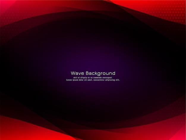 Fondo scuro alla moda di progettazione astratta dell'onda rossa