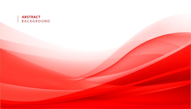 Astratto sfondo rosso ondulato. illustrazione del movimento del flusso della curva