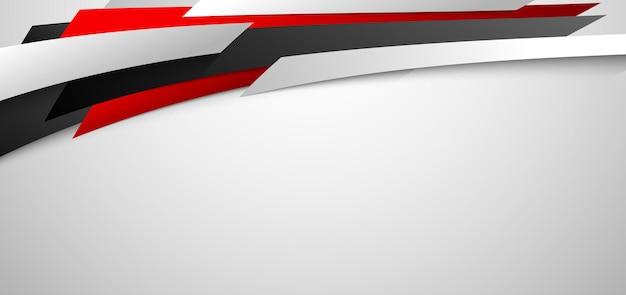 Fondo diagonale geometrico astratto rosso e bianco