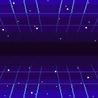 Sfondo astratto retrò pixel art anni '80. grafica vettoriale eps 10.