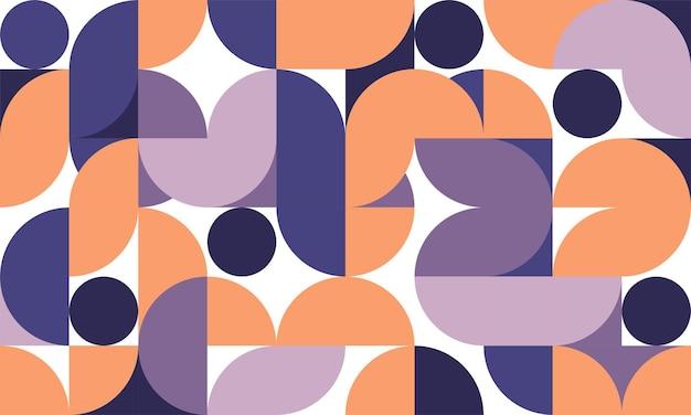 Stile retrò astratto di stile di grafica del modello geometrico. disegno del cerchio di sfondo di forme arrotondate.