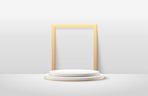 Esposizione rotonda astratta per prodotto sul sito web in moderno. b