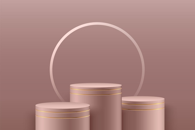 Fase rotonda astratta per premi in moderno.