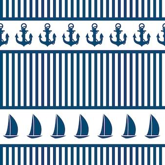 Fondo senza cuciture astratto del mare. illustrazione vettoriale
