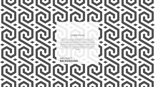 Modello di linee di forma geometrica senza soluzione di continuità astratta