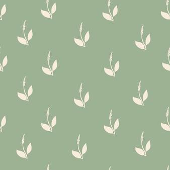Modello minimalista senza cuciture astratto con fiori e foglie.