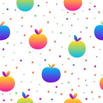Fondo senza cuciture astratto. moderna illustrazione di frutta futuristica per biglietto di design, invito a una festa, menu, carta da parati, carta da regalo per le vacanze, tessuto, stampa di borse, t-shirt, pubblicità di officina