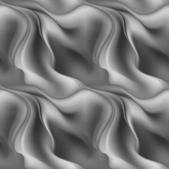 Grigio senza cuciture astratto dell'onda di struttura del fondo del modello